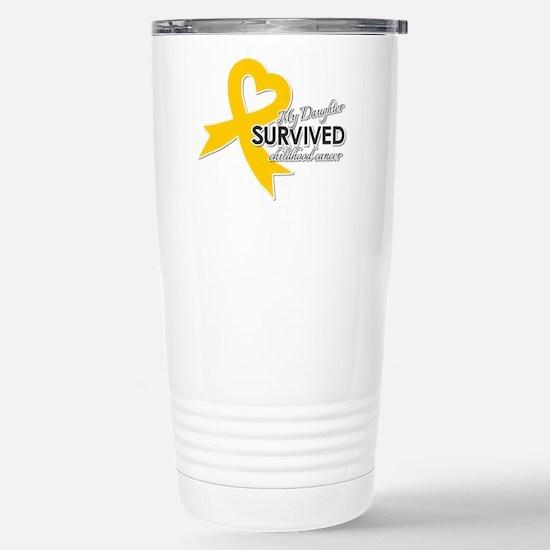 My Daughter Survived Childhood Cancer Travel Mug