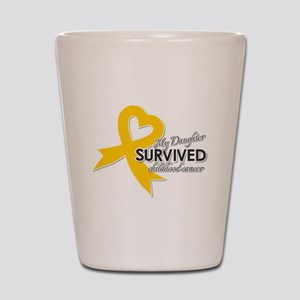 My Daughter Survived Childhood Cancer Shot Glass