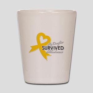 My Daughter Survived Childhood Cancer Shot Glass