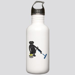 Black Lab Curling Stainless Water Bottle 1.0L