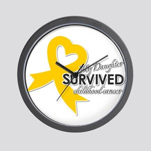 My Daughter Survived Childhood Cancer Wall Clock