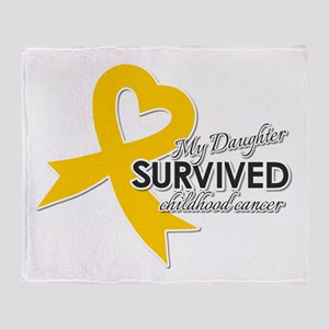 My Daughter Survived Childhood Cancer Throw Blanke