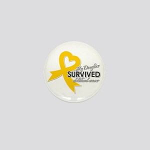 My Daughter Survived Childhood Cancer Mini Button