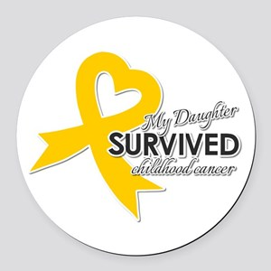 My Daughter Survived Childhood Cancer Round Car Ma