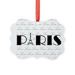 Paris Eiffel Tower on Love Ornament