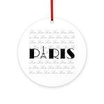 Paris Eiffel Tower on Love Ornament (Round)