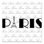 Paris Eiffel Tower on Love Square Car Magnet 3