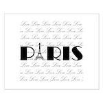 Paris Eiffel Tower on Love Posters
