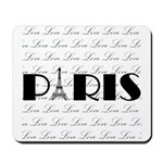 Paris Eiffel Tower on Love Mousepad
