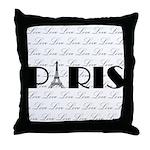 Paris Eiffel Tower on Love Throw Pillow