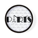 Paris Eiffel Tower on Love Wall Clock