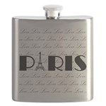 Paris Eiffel Tower on Love Flask