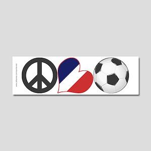 France Soccer Car Magnet 10 x 3