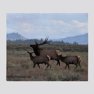 Rocky Mountain Elk Throw Blanket