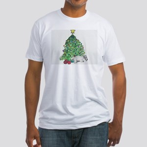 "Cesky Terrier ""My Tree"" Fitted T-Shirt"