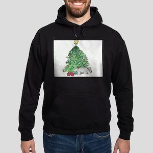 """Cesky Terrier """"My Tree"""" Hoodie (dark)"""