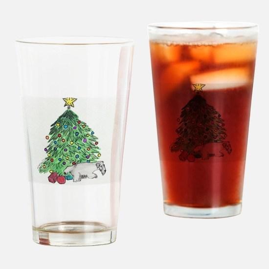 "Cesky Terrier ""My Tree"" Drinking Glass"