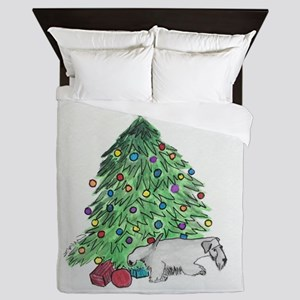 "Cesky Terrier ""My Tree"" Queen Duvet"
