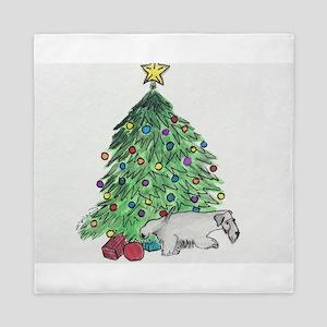 """Cesky Terrier """"My Tree"""" Queen Duvet"""