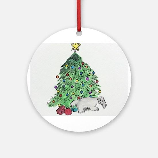 "Cesky Terrier ""My Tree"" Ornament (Round)"