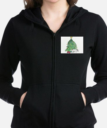 "Cesky Terrier ""My Tree"" Women's Zip Hoodie"