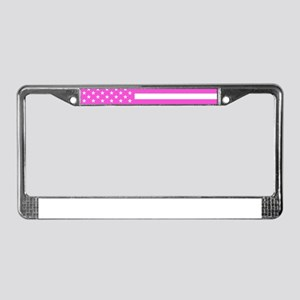 U.S. Flag: Pink License Plate Frame