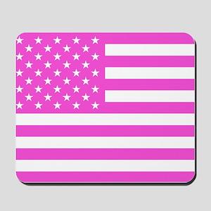U.S. Flag: Pink Mousepad