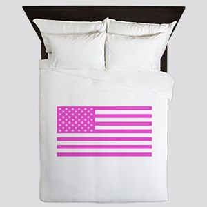 U.S. Flag: Pink Queen Duvet