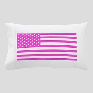 U.S. Flag: Pink Pillow Case