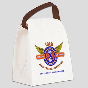 10TH ARMY AIR FORCE WORLD WAR II  Canvas Lunch Bag
