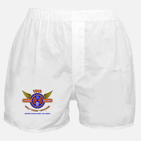 10TH ARMY AIR FORCE WORLD WAR II ARMY Boxer Shorts