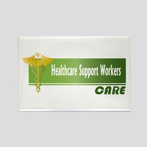 Healthcare Support Workers Care Rectangle Magnet