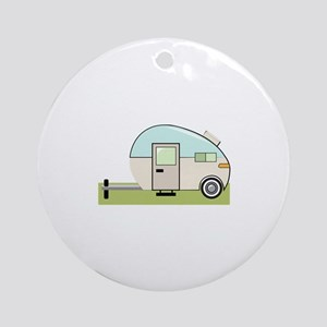 Trailer Vehicle Ornament (Round)