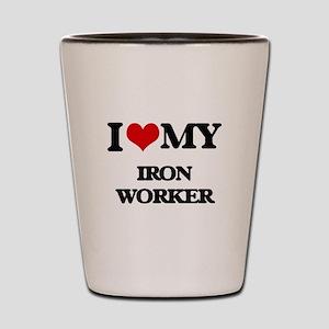 I love my Iron Worker Shot Glass