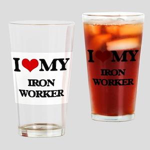 I love my Iron Worker Drinking Glass