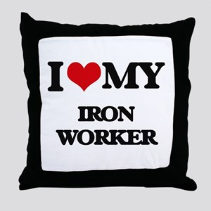 I love my Iron Worker Throw Pillow