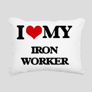I love my Iron Worker Rectangular Canvas Pillow