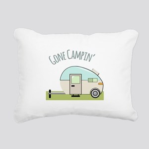 Gone Campin Rectangular Canvas Pillow