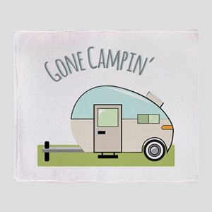 Gone Campin Throw Blanket