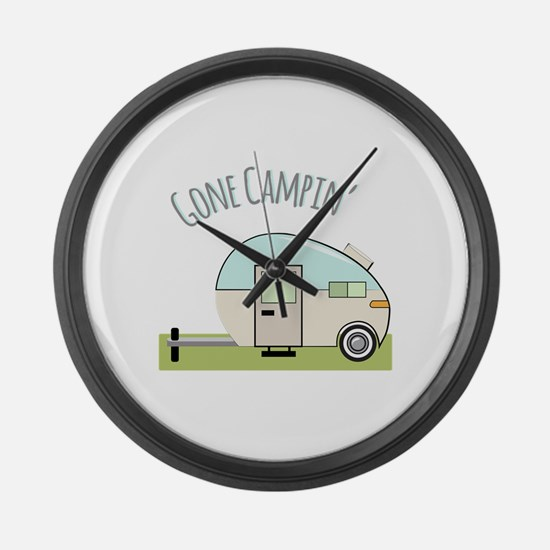 Gone Campin Large Wall Clock