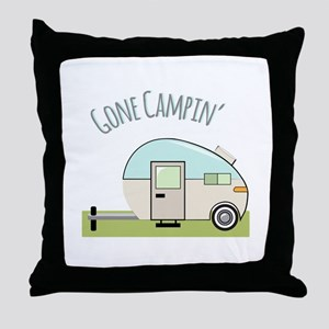 Gone Campin Throw Pillow