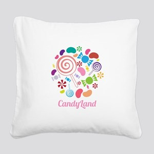 Candy Land Square Canvas Pillow