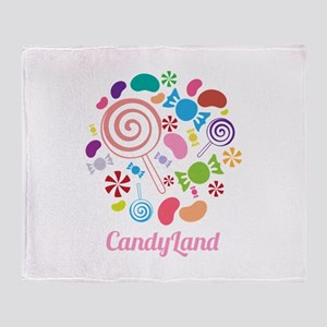 Candy Land Throw Blanket