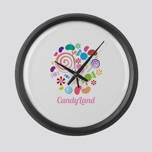 Candy Land Large Wall Clock