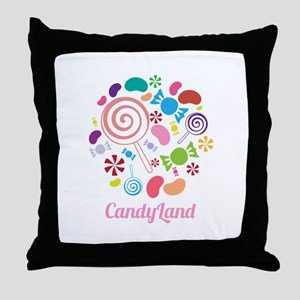 Candy Land Throw Pillow