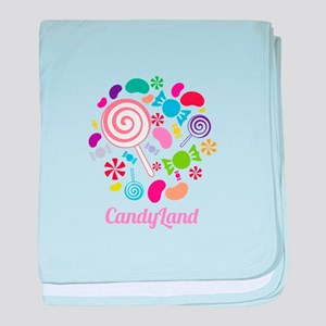 Candy Land baby blanket