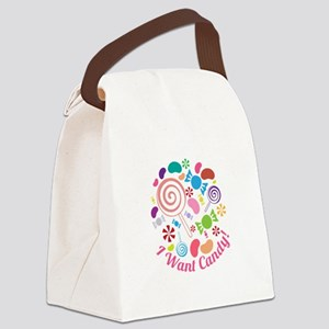 I Want Candy Canvas Lunch Bag