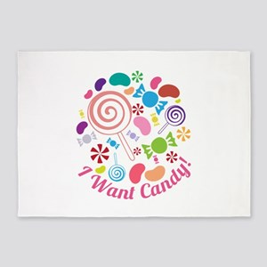 I Want Candy 5'x7'Area Rug