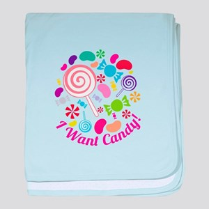 I Want Candy baby blanket