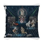 Paw Banging, RuFF, Rock Roll Woven Throw Pillow